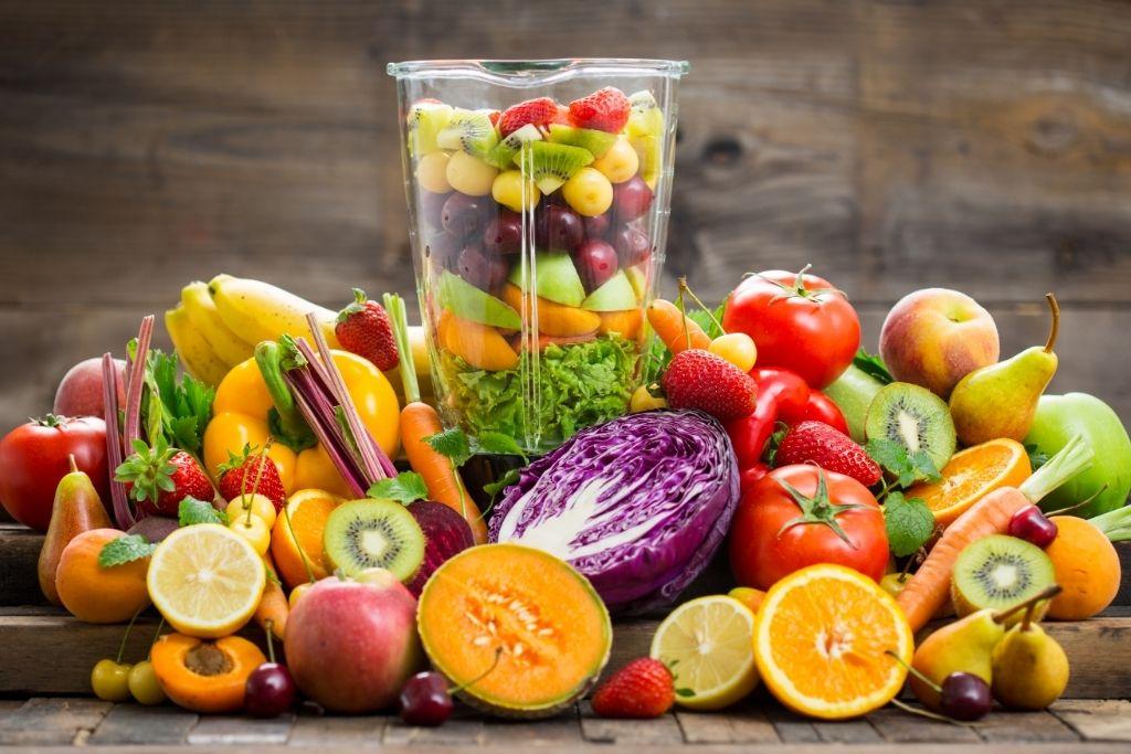 富含維生素的均衡蔬果