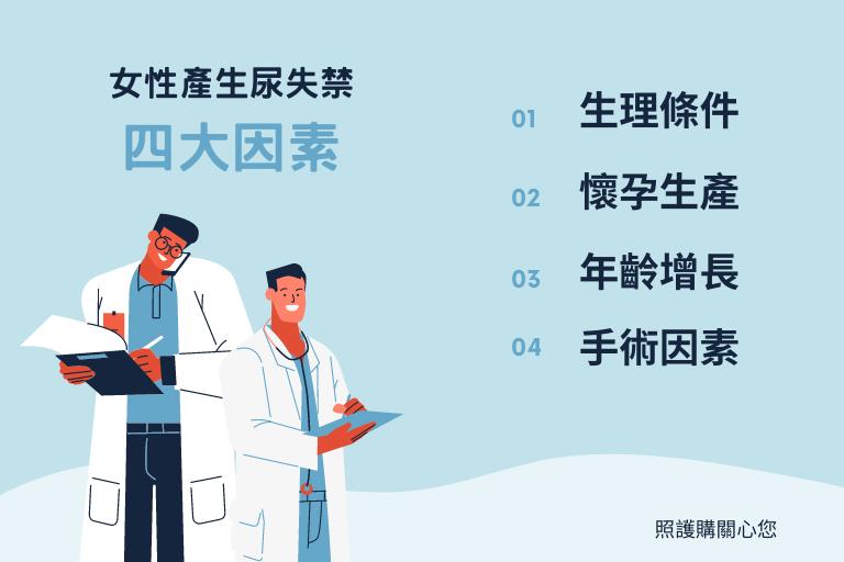 女性產生尿失禁四大因素